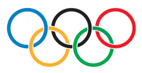 Olympic Rings, courtesy of Kimball Library - http://www.kimballlibrary.com/kimball/thursday-june-28th-630pm-summer-reading-event-library-olympics-grades-k-5/olympic-rings/